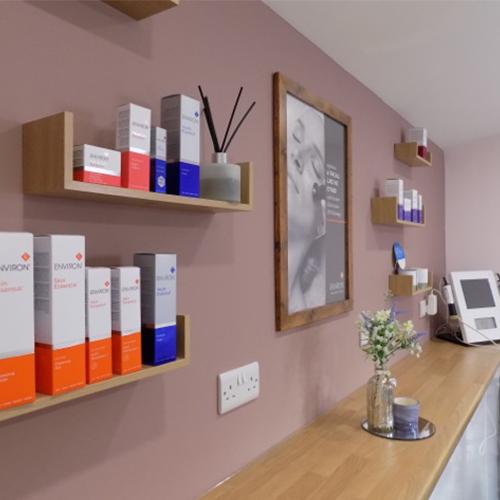 shelf containing Environ treatments